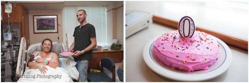 birthday cake for newborn in hospital