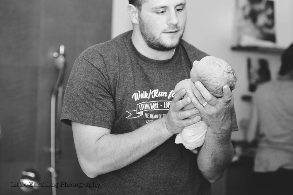 Rainbow baby, Asa's beautiful birth center birth. Bellingham birth.