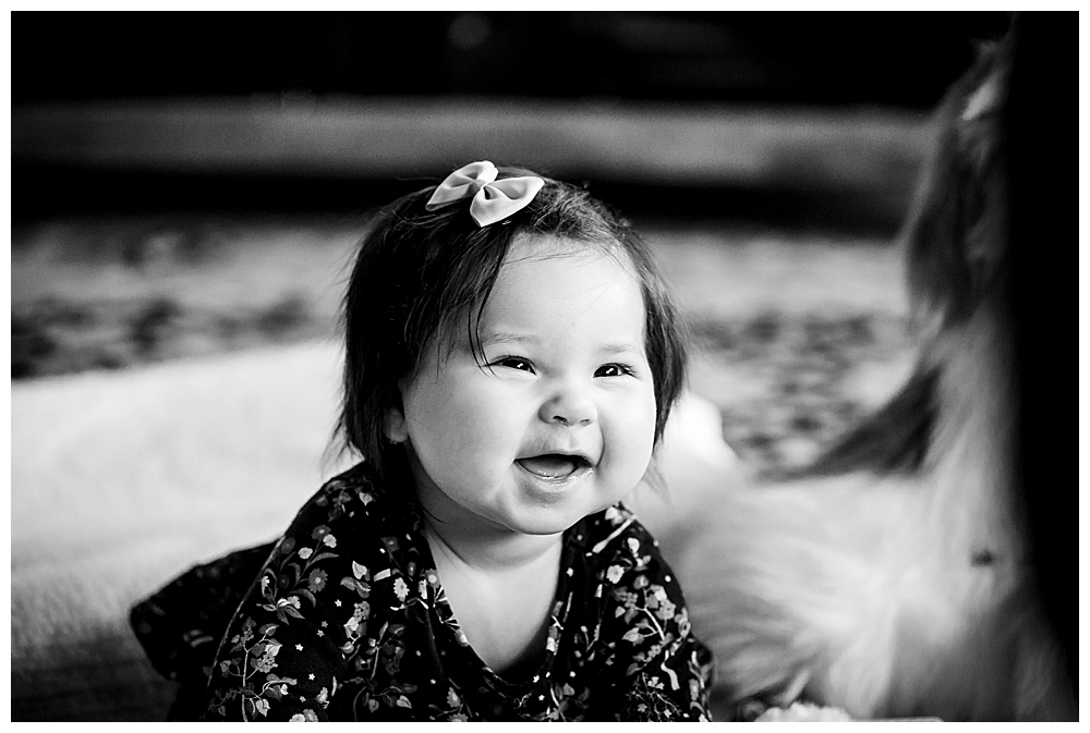 Erin was full of smiles for her six month milestone session.