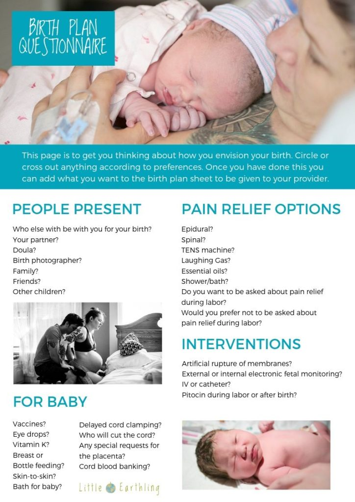 Birth Resources, Printables, and More