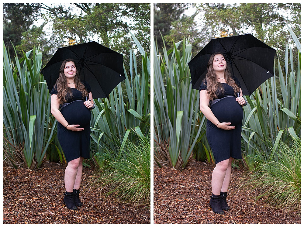 Tilly posing for maternity photos in Whangarei, New Zealand
