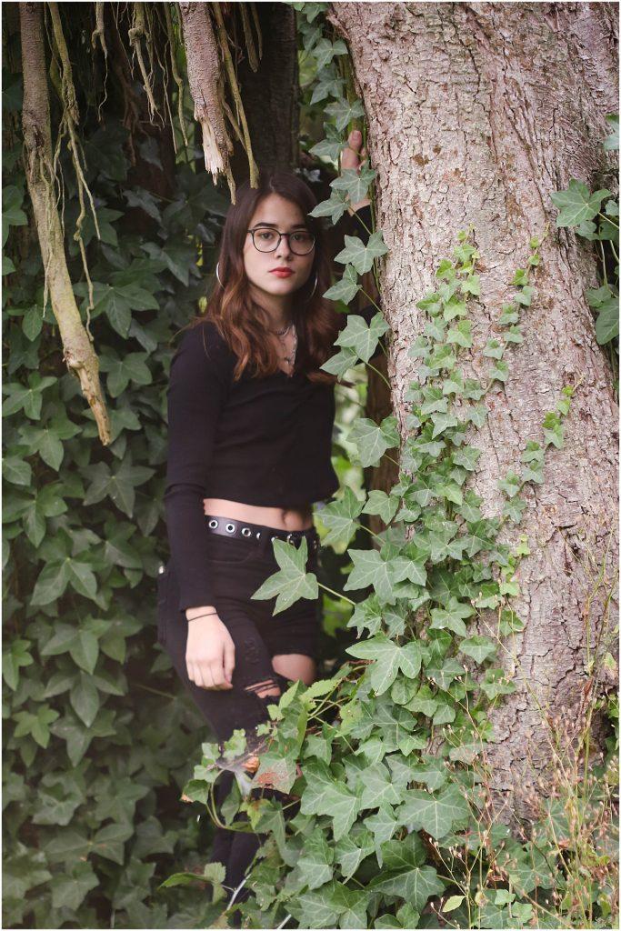Senior photos in the woods. Bellingham senior photos.