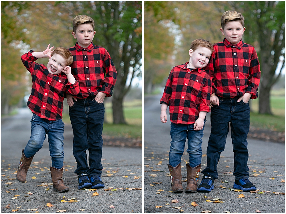 These two brothers had fun during our family session at Hovander park.