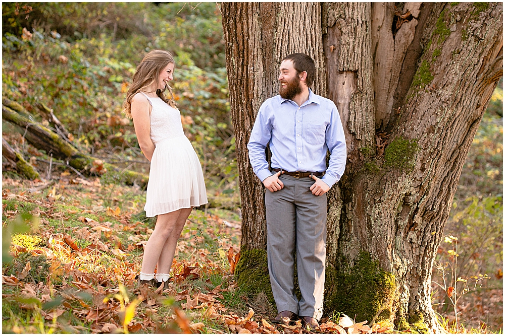 Engagement photos at Woodstock Farm  in Bellingham, WA
