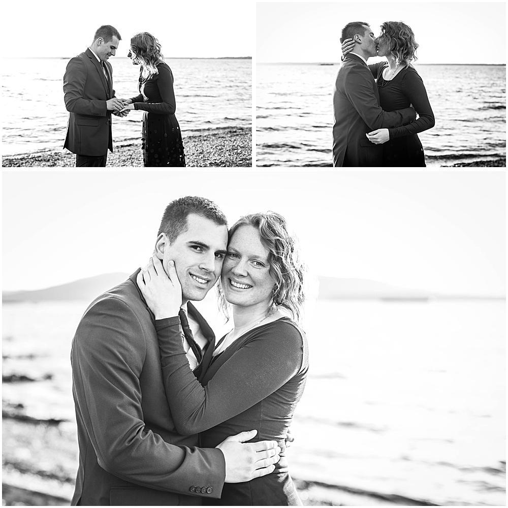 Photos after a surprise engagement at Boulevard Park.