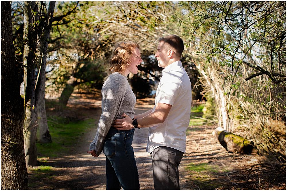 Couple at boulevard park